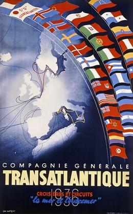 """Compagnie Générale TRANSATLANTIQUE – Crosières et Circuits """"la mer et l'outremer"""", Jan Auvigne"""