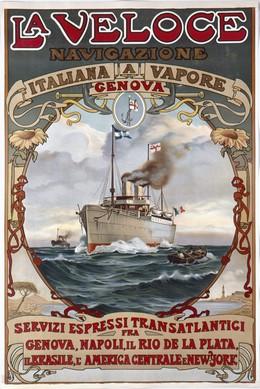 La Veloce – Navigazione Italiana a Vapore, Artist unknown