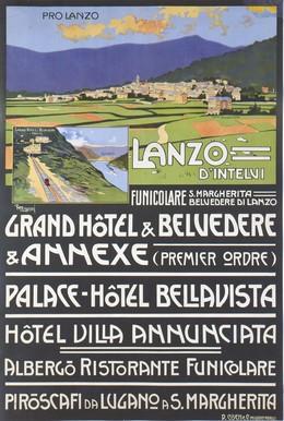 Lanzo d'Intelvi – Grand-Hôtel Belvedere & Annexe / Palace Hotel Bellavista – Hotel Villa Annunciata, F. Magnani