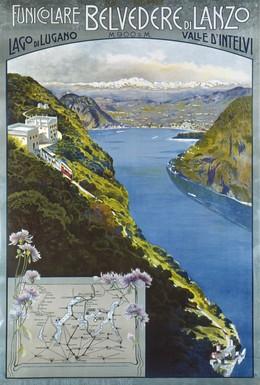 Funiculare BELVEDERE DI LANZO – Lago di Lugano – 900 m.s.m., Artist unknown