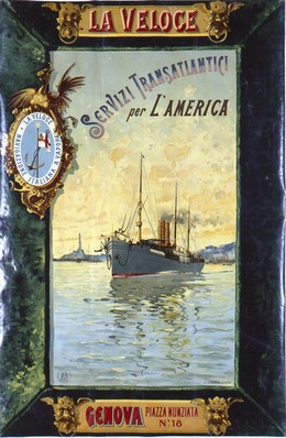 LA VELOCE – SERVIZI TRANSATLANTICI per L'AMERICA – Genova, Artist unknown