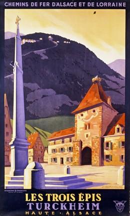 CHEMIN DE FER D'ALSACE ET DE LORRAINE: Les Trois Épis Turckheim, Haute-Alsace, C. Gadoud