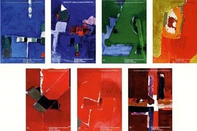 Landesausstellung Expo Lausanne 1964, 7-teilig, Hans Falk