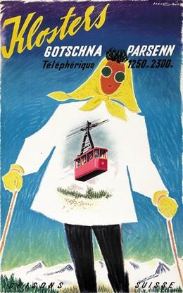 Klosters – Gotschna – Parsenn – Téléphérique – 1250m 2300m – Grisons – Suisse, Franco Barberis