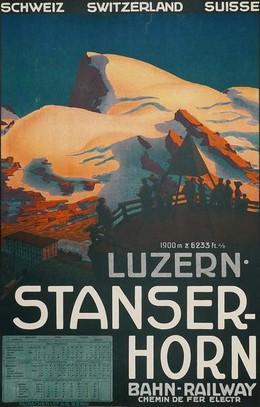 Luzern – Stanserhorn – Bahn – Railway – Chemin de fer electr. – Schweiz – Switzerland – Suisse, Artist unknown