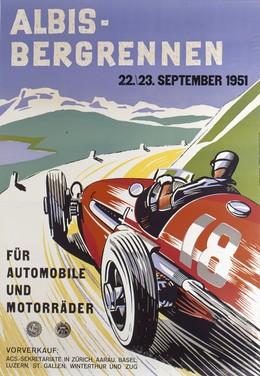 ALBIS BERGRENNEN 1951 – Für Automobile und Motorräder, E.W. Schmid