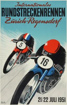 Internationales RUNDSTRECKENRENNEN Zürich – Regensdorf – 21 / 22 Juli 1951, Hans Schoellhorn