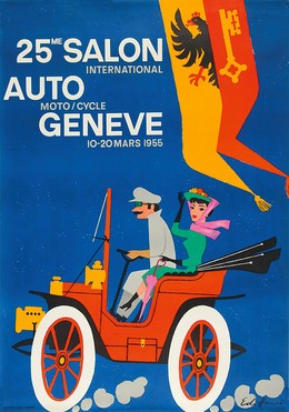 25me SALON International AUTO Moto / Cycle GENEVE 10 – 20 Mars 1955, Edi Hauri
