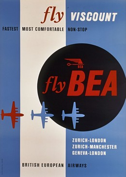 Fly Viscount – Fly BEA – fastest most comfortable NON-STOP, J. Wild