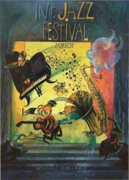 Zurich Jazz Festival 1987, T. Hauptmann