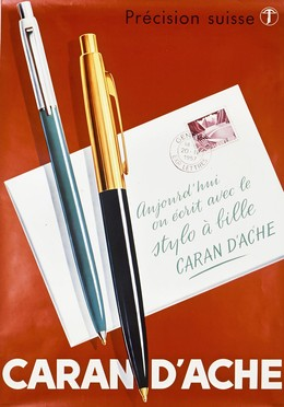 Caran d'Ache stylos, Artist unknown