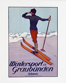 Wintersport in Graubünden – Schweiz, Koch, Walther, d'après