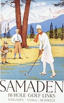 SAMADEN 18 HOLE GOLF LINKS (Reprint of original from 1925)
