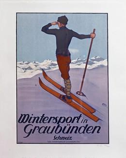 Wintersport in Graubünden, 1907, Koch, Walther, d'après