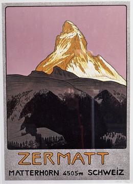 Zermatt – Matterhorn – 4505 m. Schweiz, Cardinaux, Emil, d'après