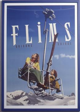 Flims – Holzrahmen blau 2,5 cm, Acrylglas, Endformat 76 x 106 cm, L.M. Kohler