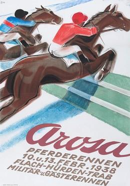 Arosa – Pferderennen – 10. u. 13. Febr. 1938 – Flach – Hürden – Trab – Militär- und Gästerennen, Hugo Laubi