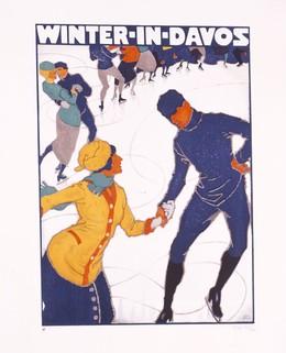 WINTER IN DAVOS, Mangold, Burkhard, d'après
