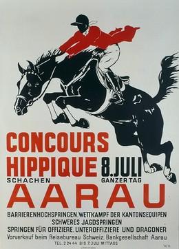 CONCOURS HIPPIQUE 8. JULI AARAU, Monogram W.H.