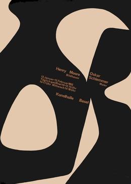 Kunsthalle Basel 1955 – Henry Moore / Oskar Schlemmer, Armin Hofmann