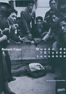 """Musée de l'Elysée Lausanne – Photo: Robert Capa """"Le premier mort des Elections, Mexico, 1940"""", Werner Jeker"""