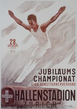 JUBILÄUMS CHAMPIONAT – Eidg. Kunstturnerverband – HALLENSTADION ZÜRICH – 28. Oktober 1945, Carl Rüttimann