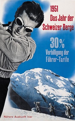 1951 The Year of the Swiss Alps / Vacances en Suisse, à la conquête des Alpes, Hans Aeschbach