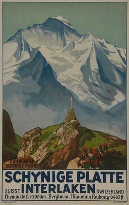 SCHYNIGE PLATTE INTERLAKEN – Alpengarten – Suisse Switzerland – Chemin de Fer 2000m Bergahn, Mountain Railway 6463 ft., Ernst Hodel