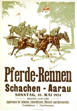 Pferde-Rennen – Schachen – Aarau, Artist unknown