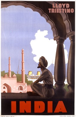 INDIA – LLOYD TRIESTINO, Gino Boccasile