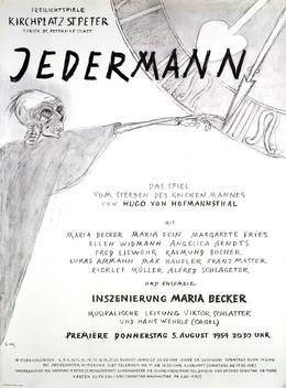 Jedermann – Maria Becker – Kirchplatz St. Peter, Ernst Morgenthaler