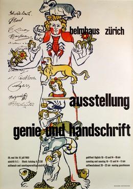 """Helmhaus Zürich """"Genie & Handschrift"""", Max Hellstern"""