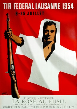 "TIR FEDERAL LAUSANNE 1954 – ""La Rose au Fusil"", Jean-Pierre Otth"