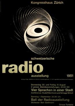 Schweizerische Radio Ausstellung 1951 – Kongresshaus Zürich, G. - Photo: Vetterli Honegger-Lavater