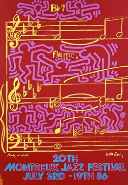 20th Montreux Jazz Festival – July 3rd-19th 86 – Andy Warhol – Keith Haring, Haring, Keith (1958-1990), Wahrhol, Andy (1928-1987)