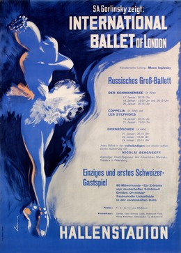 SA Gorlinksy zeigt: International Ballet of London – Russisches Gross-Ballett – Hallenstadion Zürich, Artist unknown