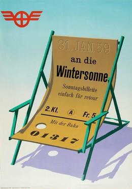 31. Jan. 59 – An die Wintersonne mit der Bahn, Hans Hartmann