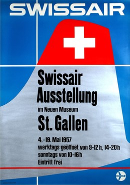 SWISSAIR – Ausstellung im neuen Museum St. Gallen 1957, Henry Ott
