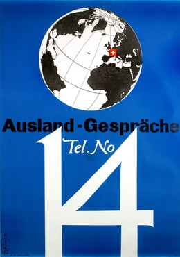 tel. no 14 for calls abroad, Pierre Gauchat
