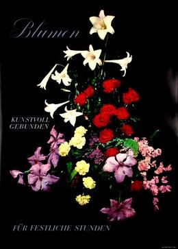 Blumen kunstvoll gebunden für festliche Stunden, Artist unknown