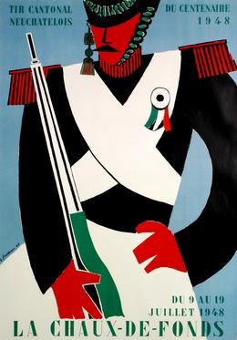TIR CANTONAL NEUCHATELOIS DU CENTENAIRE 1948 LA CHAUX-DE-FONDS, Georges Froidevaux