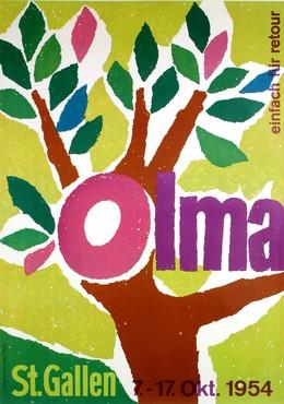 OLMA St. Gallen – 7. – 17. Oktober 1954 – einfach für retour, Willy Bosshard