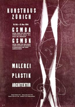 GSMBA Zürich – Kunsthaus Zürich 1954 – Malerei Plastik Architektur, Monogram E.H.