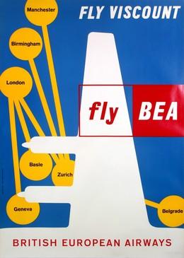 BEA – British Europen Airways – fly BEA – fly Viscount, J. Wild