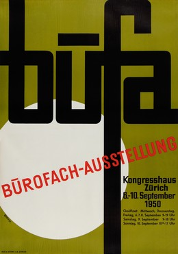 Büfa – Bürofachausstellung Kongresshaus Zürich – 6. – 10. September 1950, Kneubühler