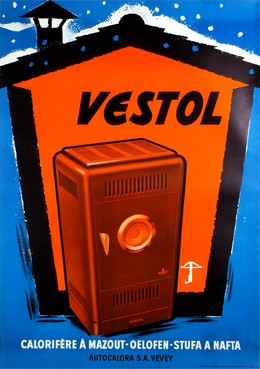 Vestol Calorifère à mazot – Autocalora SA Vevey, Artist unknown