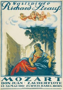 Gastspiele – Richard Strauss – Mozart – Don Juan – Zauberflöte – Zürich. Basel. Bern, Emil Cardinaux