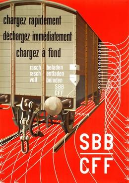 SBB – CFF – Chargez rapide – chargez immédiatement – chargez à fond, Hans Erni