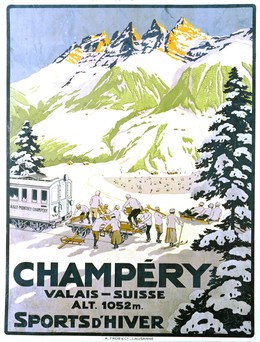 CHAMPÉRY – Valais – Sports d'hiver, Artist unknown