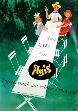 Agis – Tafelgetränk mit reinem Fruchtsaft, Fritz Butz